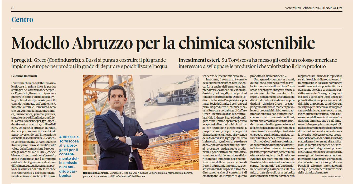 Modello Abruzzo per la chimica sostenibile